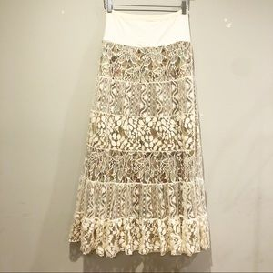 Free people lace maxi skirt
